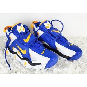 Nike air barrage mid white laser orange racer blue